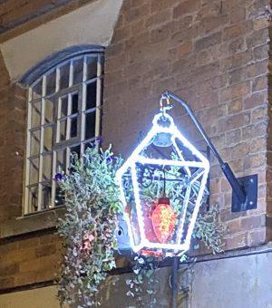 Illuminated Victorian lantern from Christmas Plus